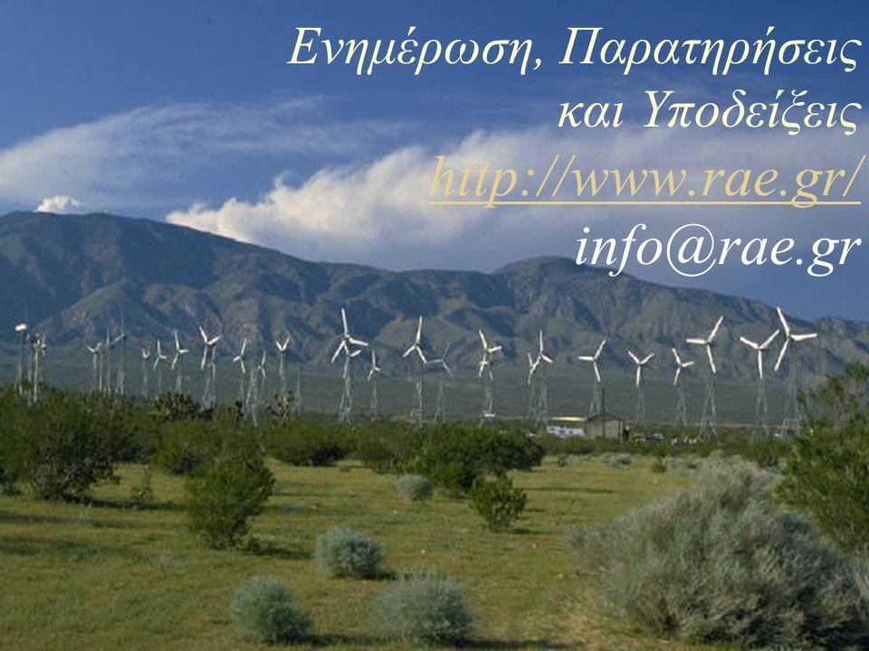 Ενημέρωση, Παρατηρήσεις και Υποδείξεις http://www.rae.gr/ info@rae.gr http://www.rae.gr/