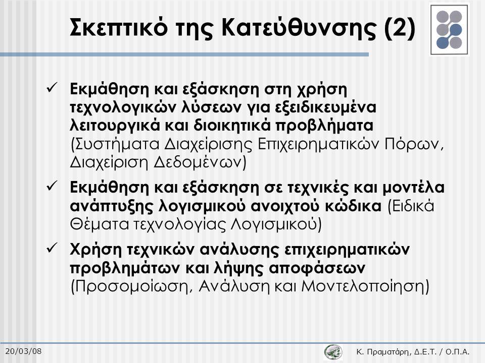 Κ. Πραματάρη, Δ.Ε.Τ. / Ο.Π.Α.