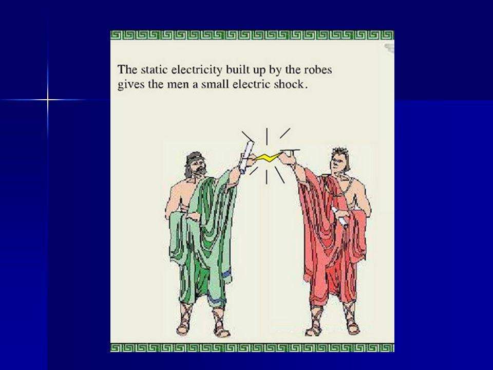 Σήμερα γνωρίζουμε ότι αυτό συμβαίνει γιατί μεταφέρονται ηλεκτρόνια από το ένα υλικό στο άλλο.