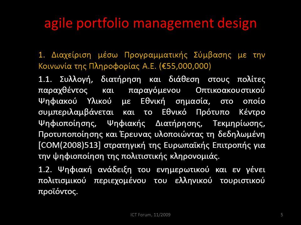agile portfolio management design continued… 2.