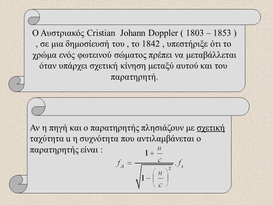 Το φαινόμενο Doppler στα ηλεκτρομαγνητικά κύματα