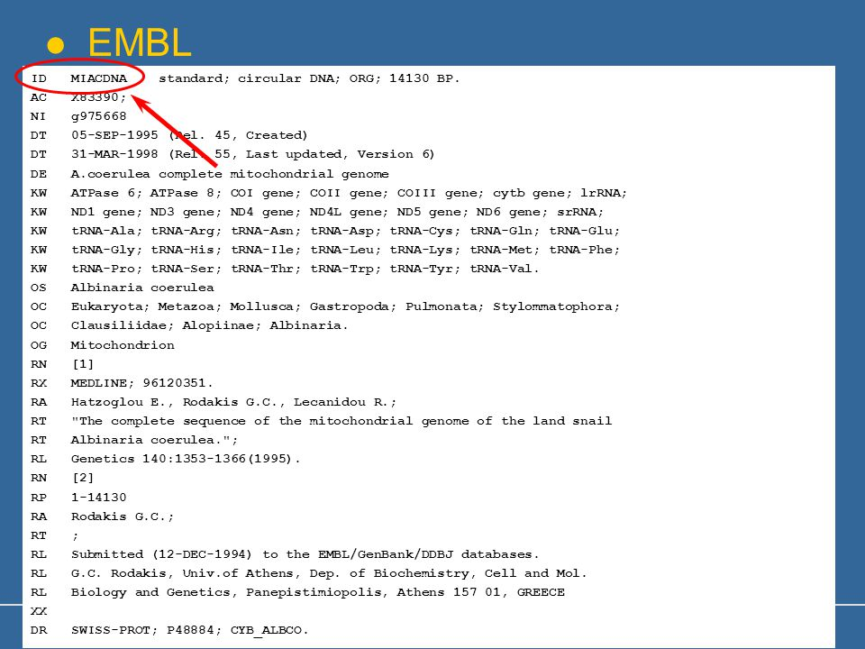 GCR_Oct-2006 13 EMBL ID MIACDNA standard; circular DNA; ORG; 14130 BP.