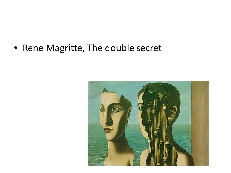 Rene Magritte, The double secret
