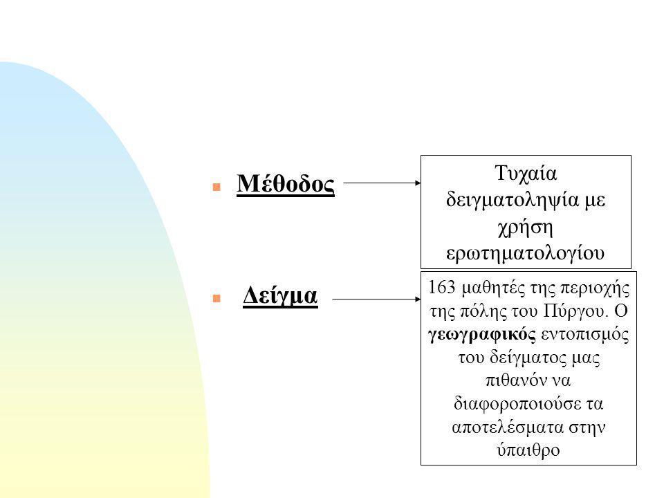 Εισαγωγή n ΣΤΟΧΟΙ n 1. Η ταυτοποίηση της μέσης διατροφικής συμπεριφοράς του μαθητή.