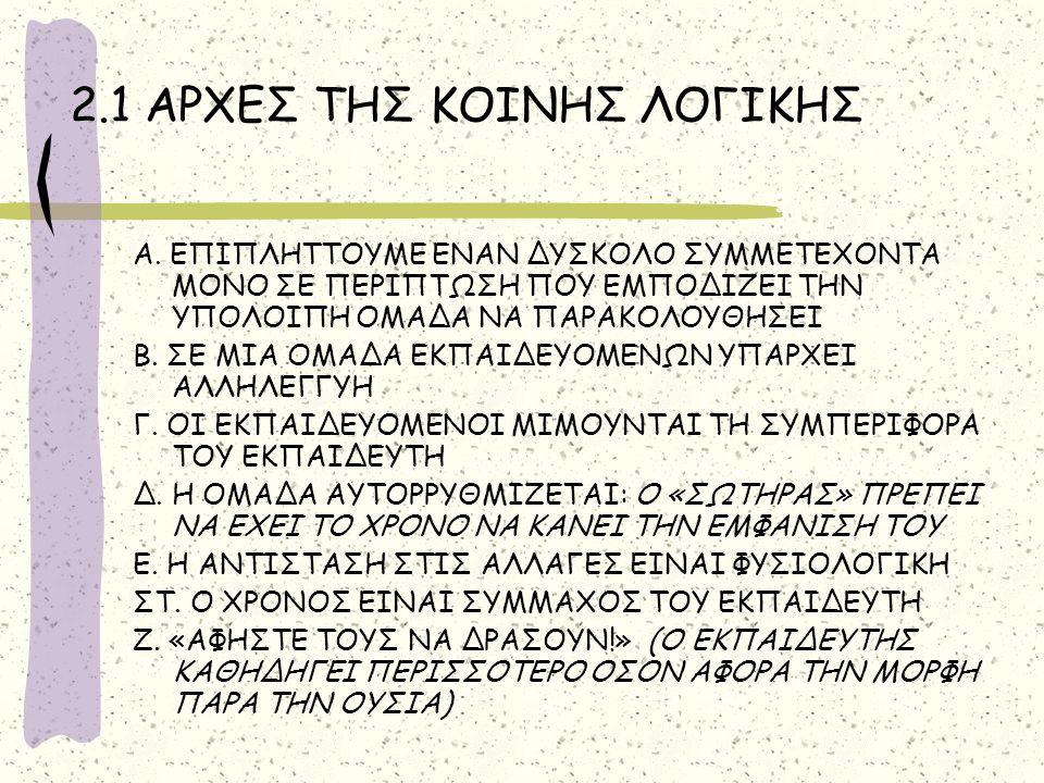 3.3.ΟΙ ΤΕΧΝΙΚΕΣ ΤΗΣ ΕΠΙΧΕΙΡΗΜΑΤΟΛΟΓΙΑΣ I.Η ΥΠΕΝΘΥΜΗΣΗ ΤΩΝ ΚΑΝΟΝΩΝ ΤΟΥ ΠAIΧΝΙΔΙΟΥ π.χ.