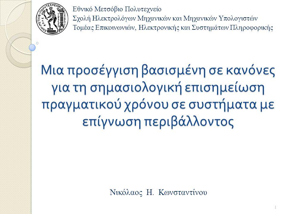 Περιεχόμενα παρουσίασης Εισαγωγή στο πρόβλημα Περιγραφή συστήματος βασισμένου σε μεσισμικό Πειραματικές μετρήσεις Ανακεφαλαίωση, συμπεράσματα και μελλοντική έρευνα 2