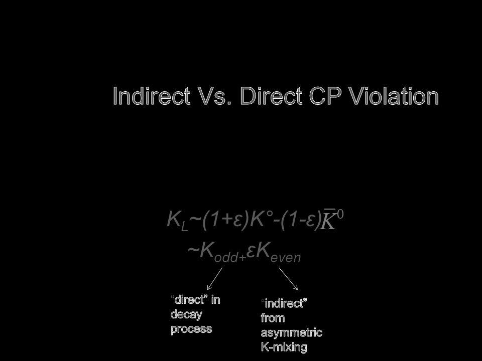 K L ~(1+ε)K°-(1-ε) ~K odd+ εK even