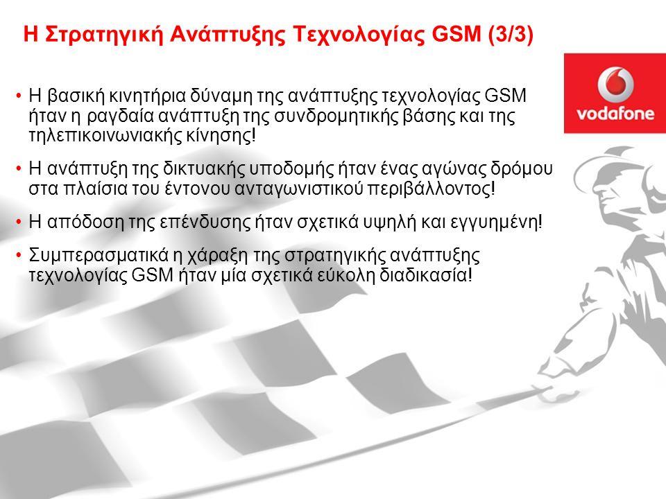 29 Οκτωβρίου 2007 Στρατηγικές Τεχνολογίας: Οι Προκλήσεις του Μέλλοντος9 Η Στρατηγική Ανάπτυξης Τεχνολογίας GSM (3/3) Η βασική κινητήρια δύναμη της ανάπτυξης τεχνολογίας GSM ήταν η ραγδαία ανάπτυξη της συνδρομητικής βάσης και της τηλεπικοινωνιακής κίνησης.
