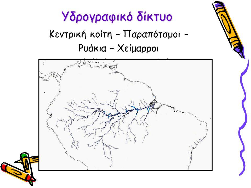 Υδρογραφικό δίκτυο Κεντρική κοίτη – Παραπόταμοι – Ρυάκια – Χείμαρροι