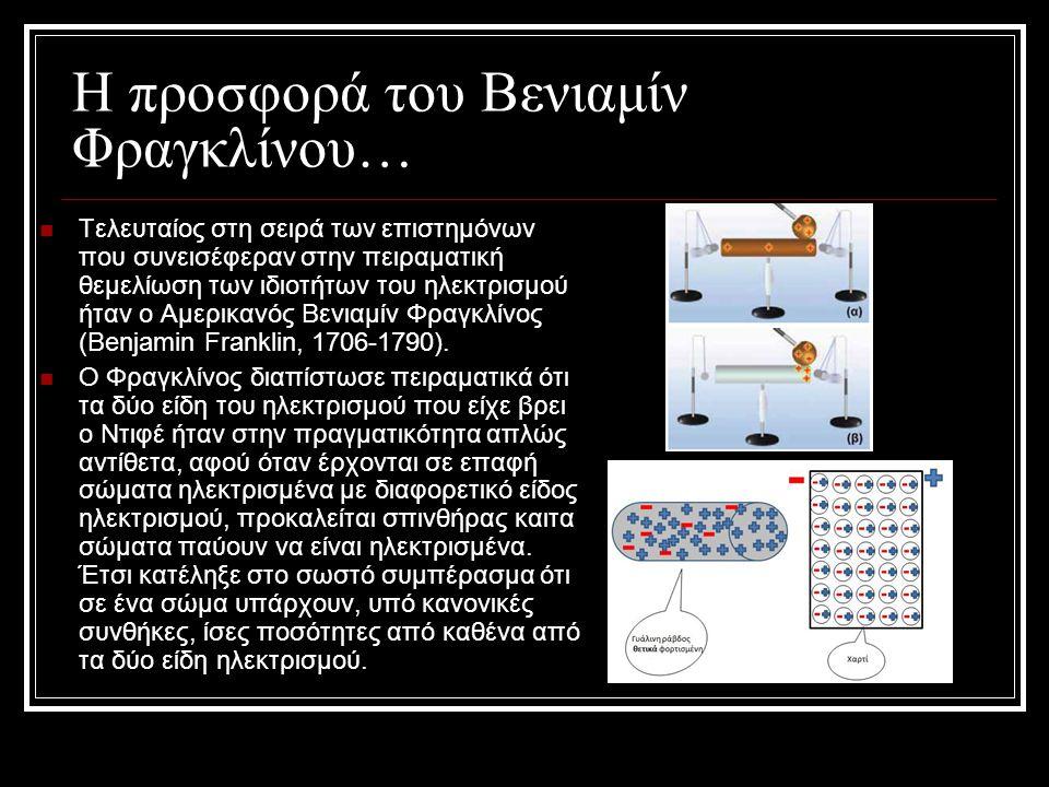 Η προσφορά του Βενιαμίν Φραγκλίνου… Τελευταίος στη σειρά των επιστημόνων που συνεισέφεραν στην πειραματική θεμελίωση των ιδιοτήτων του ηλεκτρισμού ήτα