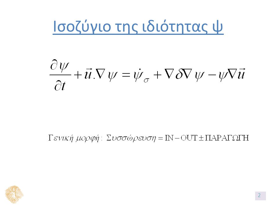 Αναλυτικές λύσεις Αναλυτική λύση προφίλ: Αναλυτική λύση μεταφερόμενης ποσότητας: Μέση συγκέντρωση: 103