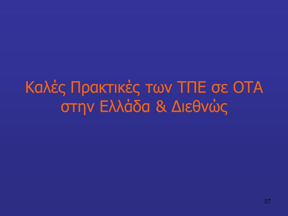 37 Καλές Πρακτικές των ΤΠΕ σε ΟΤΑ στην Ελλάδα & Διεθνώς