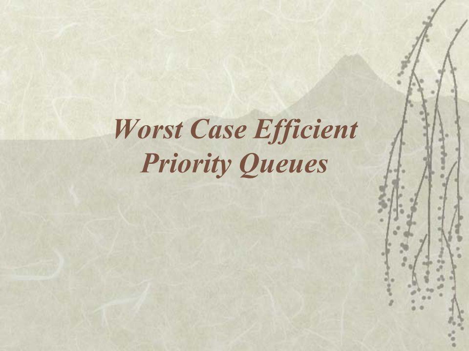 Worst Case Efficient Priority Queues
