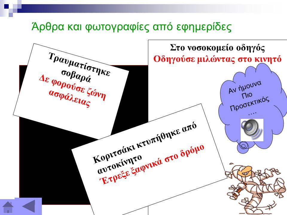 Δραστηριότητες μέσα στα πλαίσια της Καλλιέργειας Οδικής Συνείδησης: Συνεδρία διδακτικού προσωπικού Παρακολούθηση σχετικών συνεδρίων Διοργάνωση δεκαπεν