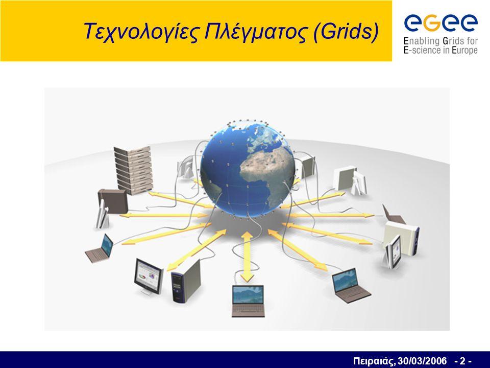 Πειραιάς, 30/03/2006 - 3 - Περιεχόμενα 1.Τι είναι το Grid .