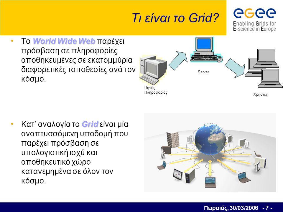 Πειραιάς, 30/03/2006 - 8 - Τι είναι το Grid .
