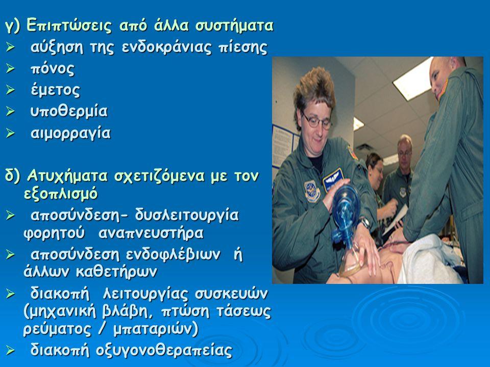 Εφαρμογή Προγράμματος Προετοιμασία Σταθεροποίηση οποιουδήποτε ύποπτου ή αποδεδειγμένου κατάγματος και ιδιαίτερα της σπονδυλικής στήλης ( σε τραυματίες) Ασφάλεια στο τροχήλατο μεταφοράς Έλεγχος για το «καλώς έχειν» του εξοπλισμού και τα εφοδίων