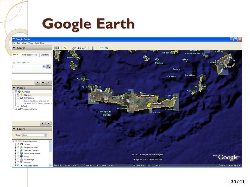 Google Earth 20/41