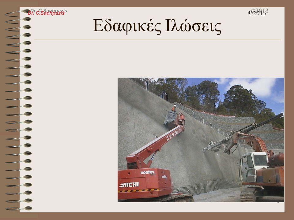 Dr. C.Sachpazis ©2013 4 Πλευρική Αντιστήριξη Τοίχος Αντιστήριξης Βαρύτητας Εδαφικές Ιλώσεις Τοίχος Οπλισμένης Γης