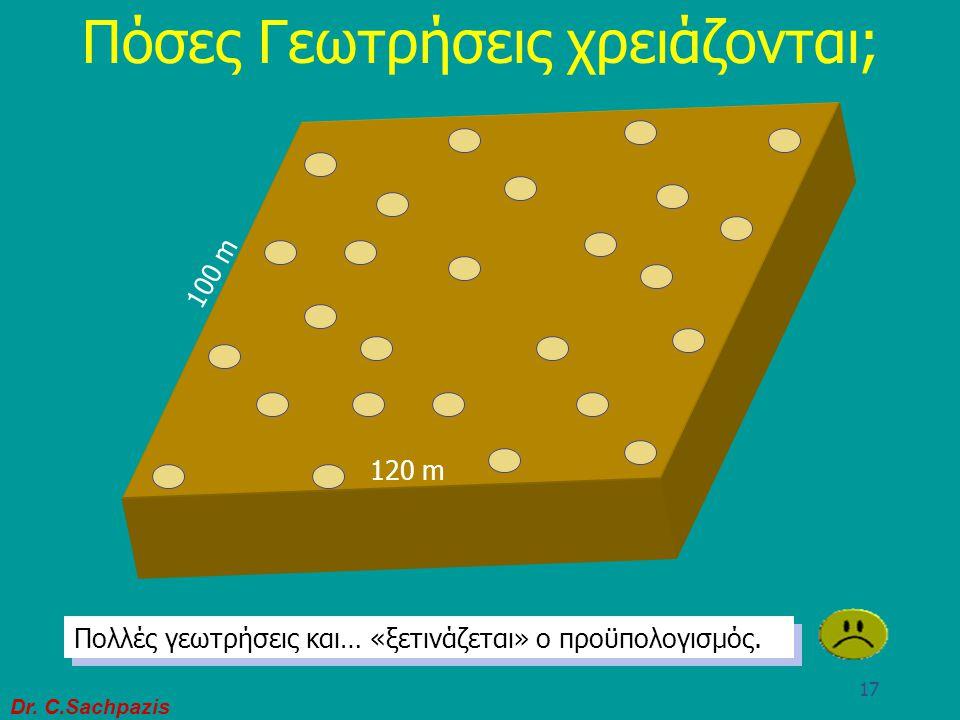 Dr. C.Sachpazis 16 Πόσες Γεωτρήσεις χρειάζονται; 120 m 100 m Προτεινόμενη περιοχή για ένα πολυόρωφο εμπορικό συγκρότημα Λίγες γεωτρήσεις. Το εδαφικό π