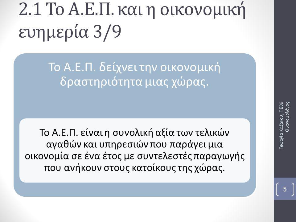 2.3 Ο ΡΟΛΟΣ ΤΟΥ ΚΡΑΤΟΥΣ ΣΤΗΝ ΟΙΚΟΝΟΜΙΑ ΚΕΦΑΛΑΙΟ 2 ο – Η ΟΡΓΑΝΩΣΗ ΤΗΣ ΟΙΚΟΝΟΜΙΑΣ Γεωργία Καζάκου, ΠΕ09 Οικονομολόγος 26