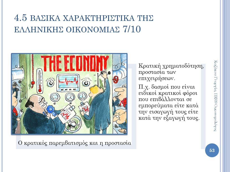 Ο κρατικός παρεμβατισμός και η προστασία Κρατική χρηματοδότηση, προστασία των επιχειρήσεων. Π.χ. δασμοί που είναι ειδικοί κρατικοί φόροι που επιβάλλον