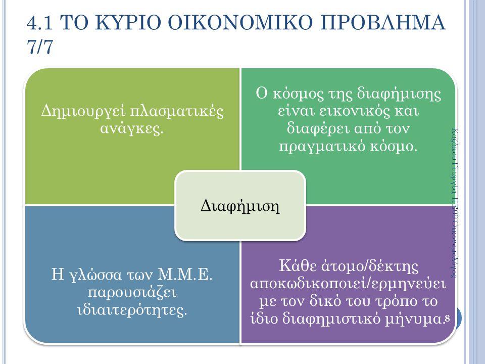 Η τιμή ενός αγαθού προσδιορίζεται από την αλληλεπίδραση των δυνάμεων της ζήτησης και της προσφοράς, έτσι ώστε να υπάρχει ισορροπία.