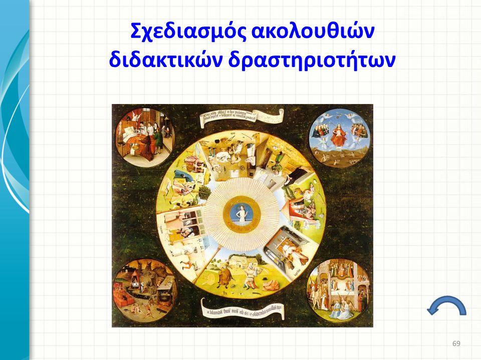 Σχεδιασμός ακολουθιών διδακτικών δραστηριοτήτων 69