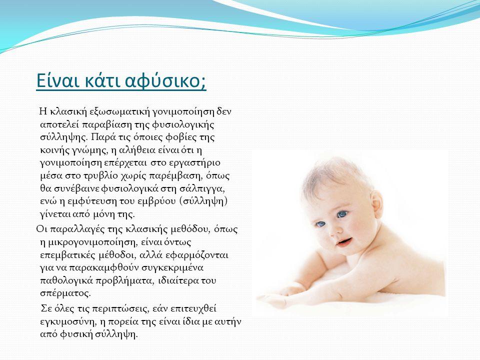 Είναι κάτι αφύσικο; Η κλασική εξωσωματική γονιμοποίηση δεν αποτελεί παραβίαση της φυσιολογικής σύλληψης. Παρά τις όποιες φοβίες της κοινής γνώμης, η α