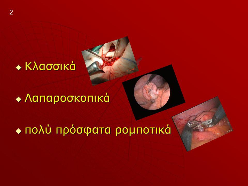  ΕΝΔΕΙΞΕΙΣ: Iστορικό επίμονου κοιλιακού άλγους Iστορικό επίμονου κοιλιακού άλγους Πυρετόs Πυρετόs Σημεία περιτοναϊσμού - περιτονίτιδας Σημεία περιτοναϊσμού - περιτονίτιδας Λευκοκυττάρωση Λευκοκυττάρωση Επανεκτίμηση 4-6h, 24h Επανεκτίμηση 4-6h, 24h  ΑΝΤΕΝΔΕΙΞΕΙΣ: Χρόνια συμπτώματα Χρόνια συμπτώματα Κλινικά σημεία μεγάλου φλέγμονος.