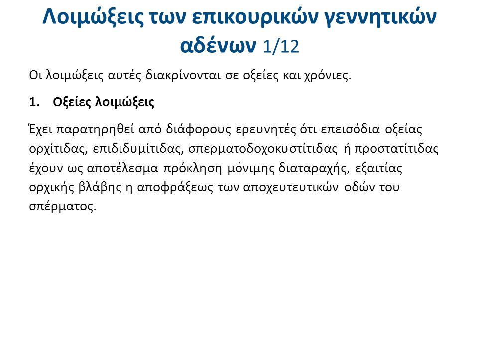 Συγγενείς αποφράξεις 2/4 Τα διαγνωστικά κριτήρια των συγγενών αποφράξεων είναι τα ακόλουθα: i.Αζωοσπερμία, ii.Φυσιολογικό μέγεθος και σύσταση των όρχεων ή ελαφρά μείωση του μεγέθους τους, iii.Ψηλαφητικά ευρήματα στους σπερματικούς πόρους και στις επιδιδυμίδες, iv.Μεταβολές στα φυσικά και βιοχημικά χαρακτηριστικά του σπέρματος (ο συνδυασμός χαμηλού όγκου σπέρματος με όξινο pΗ και πολύ χαμηλή ή απούσα φρουκτόζη σπερματικού υγρού είναι συμβατός με τη διάγνωση αποφράξεως των εκσπερματιστικών πάρων ή αγενεσίας των σπερματοδόχων κύστεων), v.Φυσιολογικά επίπεδα γοναδοτροπινών και Τ στο πλάσμα και vi.Φυσιολογική βιοψία όρχεων.