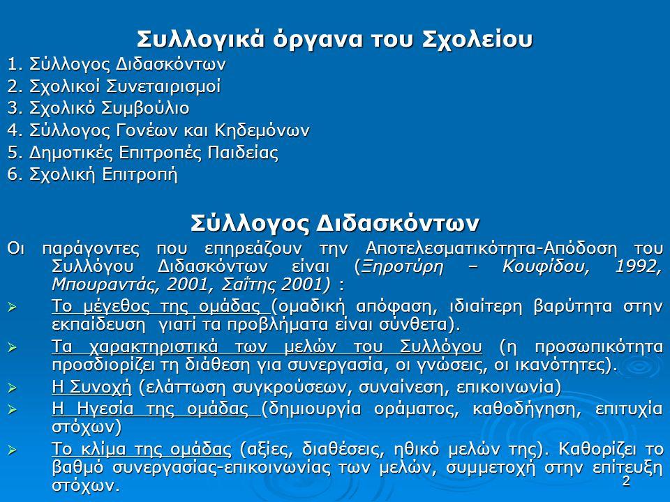 33 7.Τα μαθητικά συμβούλια (προτάσεις μαθητών) 8.