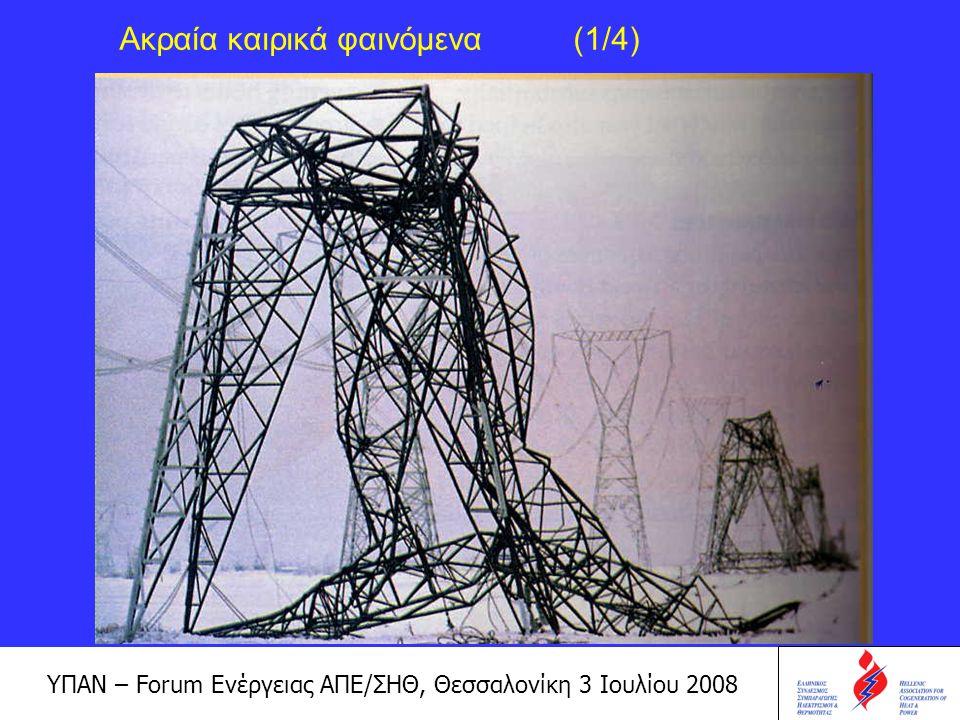 ΥΠΑΝ – Forum Ενέργειας ΑΠΕ/ΣΗΘ, Θεσσαλονίκη 3 Ιουλίου 2008 Ακραία καιρικά φαινόμενα (2/4)
