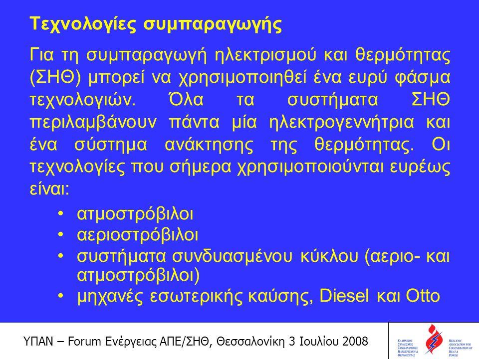 ΥΠΑΝ – Forum Ενέργειας ΑΠΕ/ΣΗΘ, Θεσσαλονίκη 3 Ιουλίου 2008 Οι τεχνολογίες αυτές είναι άμεσα διαθέσιμες, ώριμες και αξιόπιστες.