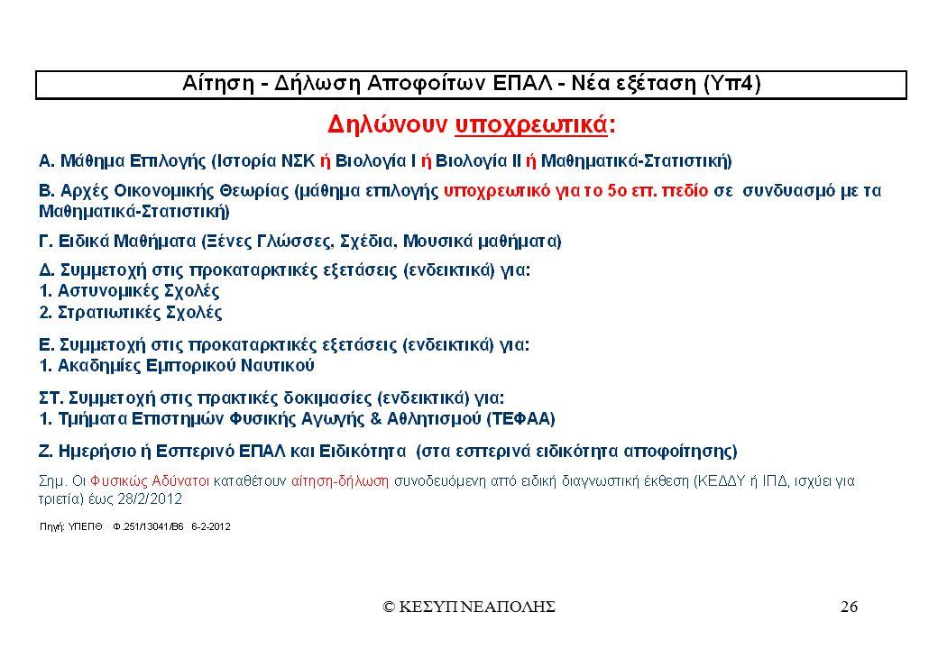 © ΚΕΣΥΠ ΝΕΑΠΟΛΗΣ26