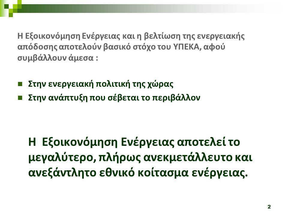 13 Στόχος: Παρεμβάσεις εξοικονόμησης ενέργειας στον οικιακό τομέα λαμβάνοντας υπόψη την περιφερειακή και την κοινωνική συνοχή.
