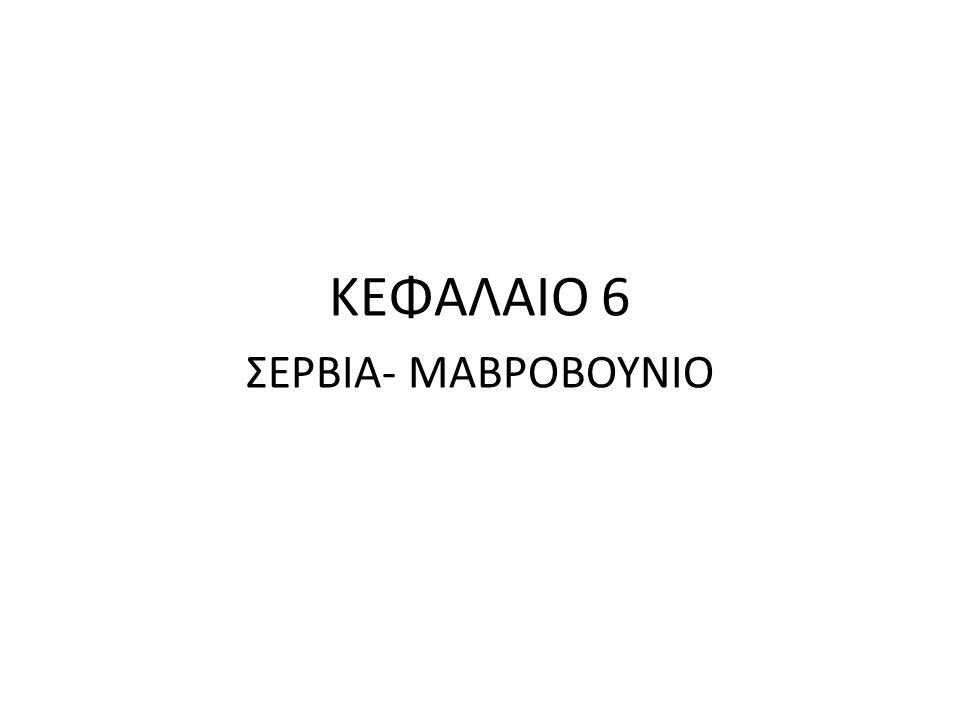 ΚΕΦΑΛΑΙΟ 6 ΣΕΡΒΙΑ- ΜΑΒΡΟΒΟΥΝΙΟ