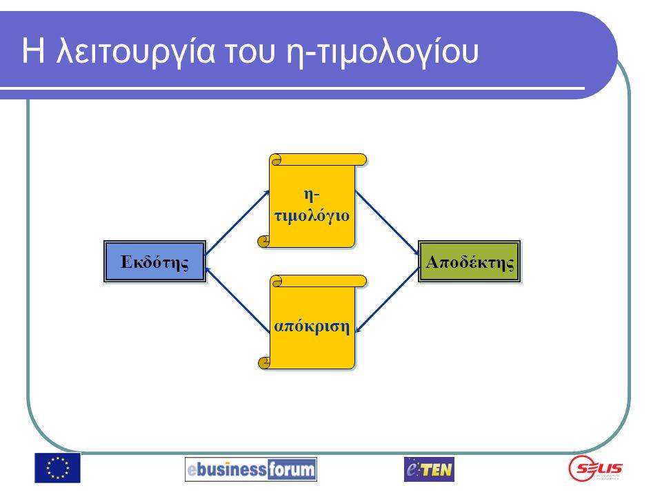 Στόχοι του έργου Εκτίμηση της επιχειρηματικής λειτουργίας μιας υπηρεσίας η-τιμολογίων για ΜΜΕ Τελειοποίηση ορισμένων τεχνικών πτυχών της υπηρεσίας πριν την λειτουργία της Εύρεση διαφόρων σεναρίων λειτουργίας της υπηρεσίας Μείωση του χρόνου εισόδου στην αγορά