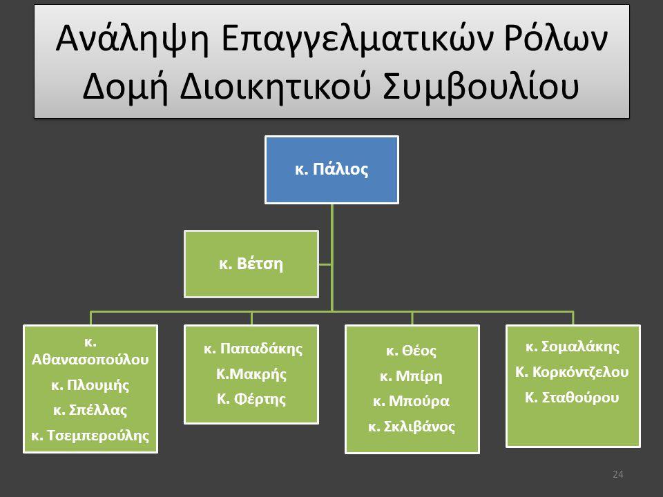 Ανάληψη Επαγγελματικών Ρόλων Δομή Διοικητικού Συμβουλίου 24 κ.