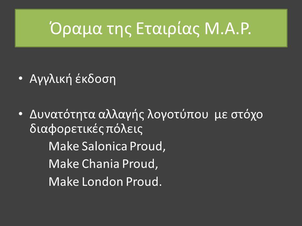 Όραμα της Εταιρίας M.A.P.