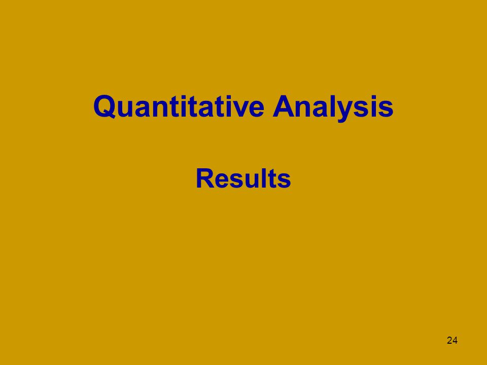 24 Quantitative Analysis Results