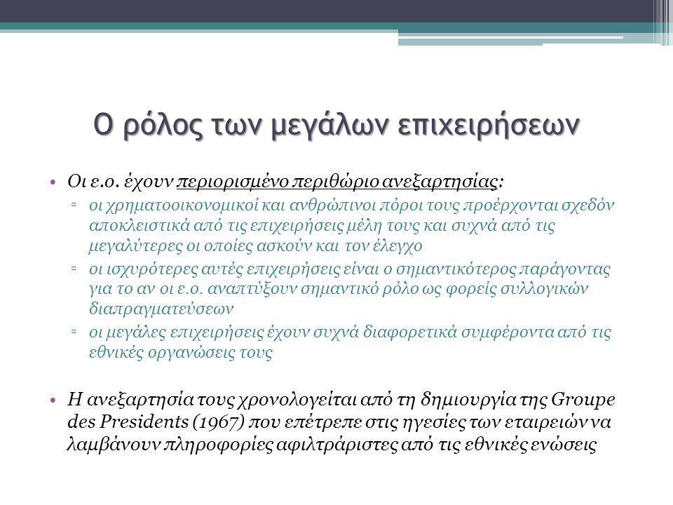 Αναρρύθμιση υπέρ των εργοδοτικών συμφερόντων Οι ελληνικές βιομηχανικές σχέσεις έχουν υποστεί μία απότομη μετατόπιση προς την εξυπηρέτηση των συμφερόντων του κεφαλαίου μέσω της ραγδαίας απορρύθμισης η οποία στην ουσία αναρρυθμίζει το σύστημα υπέρ της εργοδοτικής ισχύος Η απορρύθμιση που αναμενόταν να συμβεί μέσω λύσεων ευελιξίας, εξαιτίας των νέων επιχειρηματικών αναγκών και των νέων μορφών απασχόλησης, συνέβη στην Ελλάδα υπό την επιβληθείσα εφαρμογή νεοφιλελεύθερων πολιτικών για την πολιτική απασχόλησης.