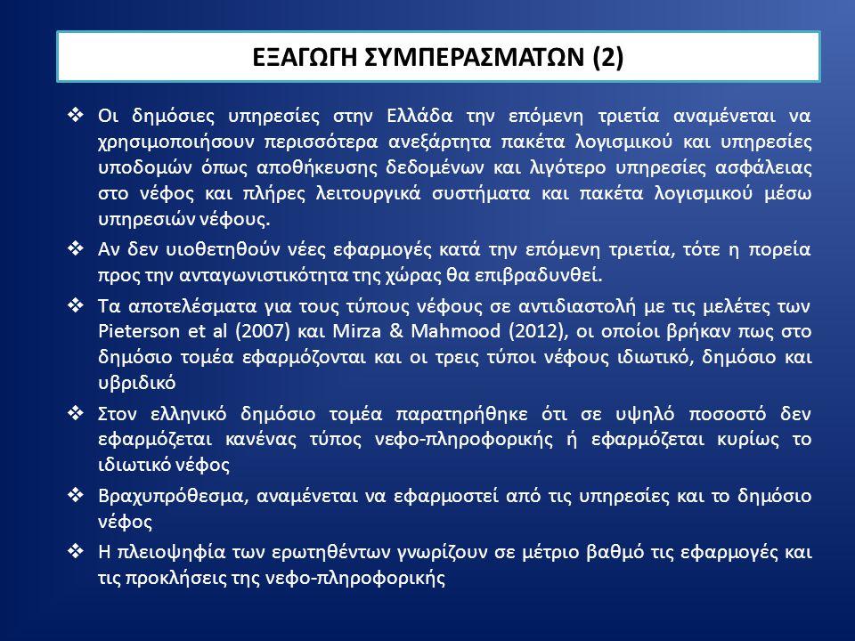  Οι δημόσιες υπηρεσίες στην Ελλάδα την επόμενη τριετία αναμένεται να χρησιμοποιήσουν περισσότερα ανεξάρτητα πακέτα λογισμικού και υπηρεσίες υποδομών