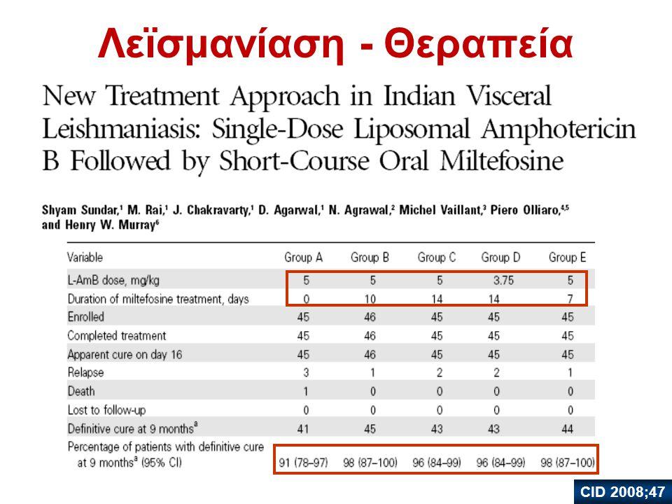 Λεϊσμανίαση - Θεραπεία CID 2008;47