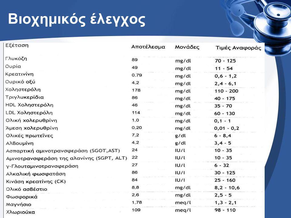 Αιματολογική εικόνα Αιμοπετάλια= 66.000-107.000 /μL Ht=37.0% Hb=11.6 gr/dL WBC=5.550 /μL ΔΕΚ= 192.600 /μL ΤΚΕ= 25 mm/hr