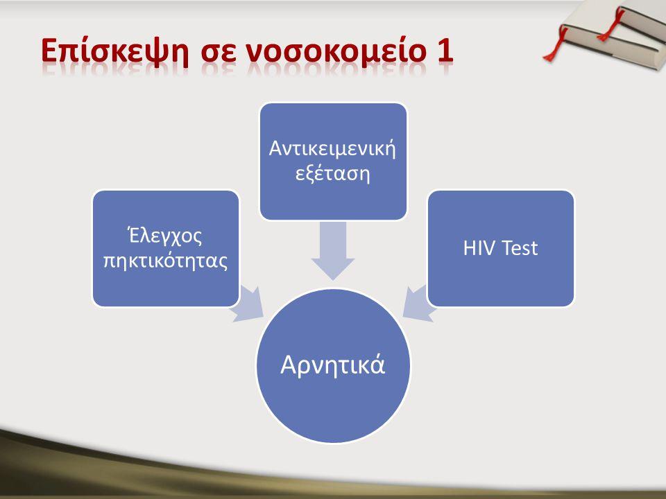 Αρνητικά Έλεγχος πηκτικότητας Αντικειμενική εξέταση HIV Test