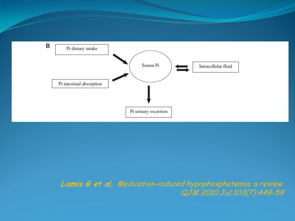 Liamis G et al, Medication-induced hypophosphatemia: a review. QJM 2010 Jul;103(7):449-59