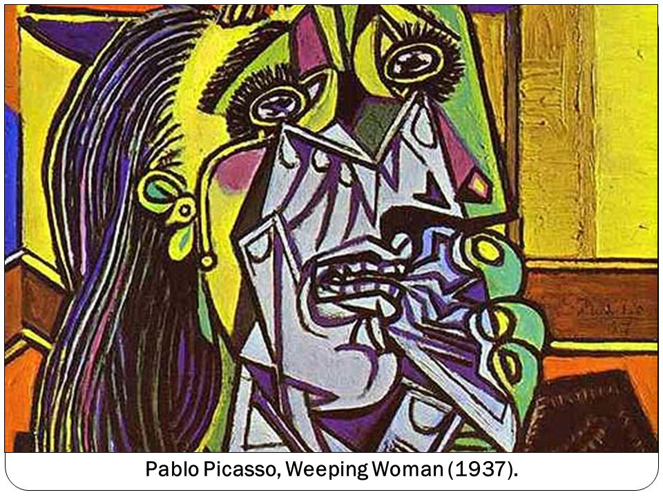 Pablo Picasso, Weeping Woman (1937).