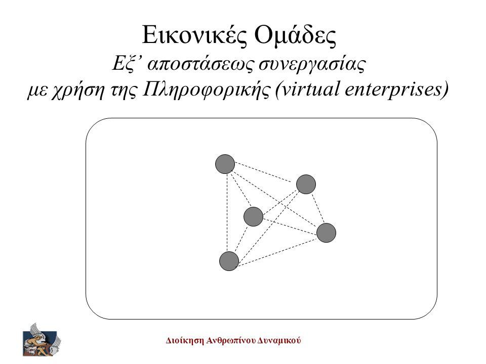 Διοίκηση Ανθρωπίνου Δυναμικού Εικονικές Ομάδες Εξ' αποστάσεως συνεργασίας με χρήση της Πληροφορικής (virtual enterprises)