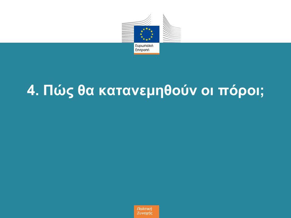 Πολιτική Συνοχής 4. Πώς θα κατανεμηθούν οι πόροι;